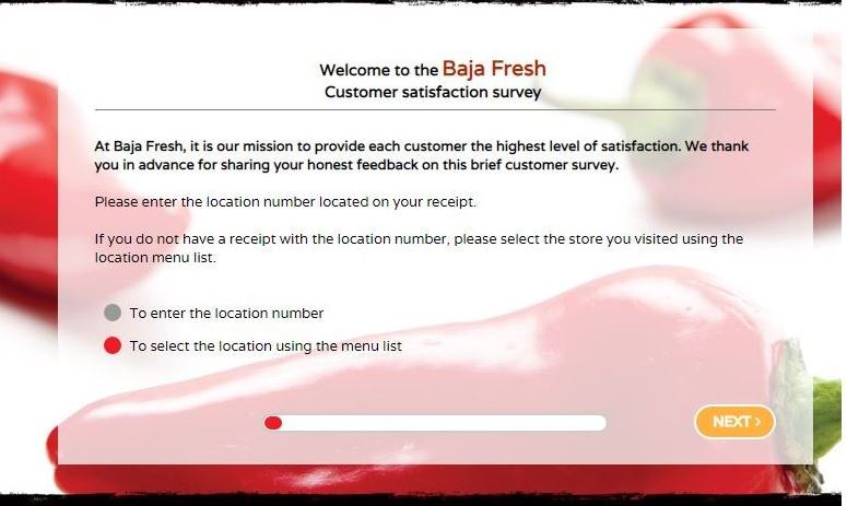 Baja Fresh Survey 1