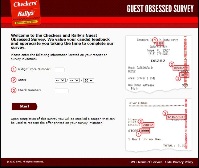 Checkers and Rally's Guest Obsessed Survey